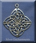 Sterling Silver Celtic Snowflake Pendant, Celtic Jewelry