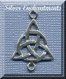 Sterling Silver Triquetra Dangler Pendant Finding