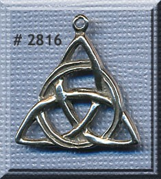 Sterling Silver Triquetra Charm Pendant, Celtic Triquetra Jewelry