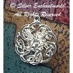 Sterling Silver Celtic Fairy Charm, Celtic Love Fairy