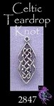 Sterling Silver Celtic Knot Charm, Teardrop Ladder Knot