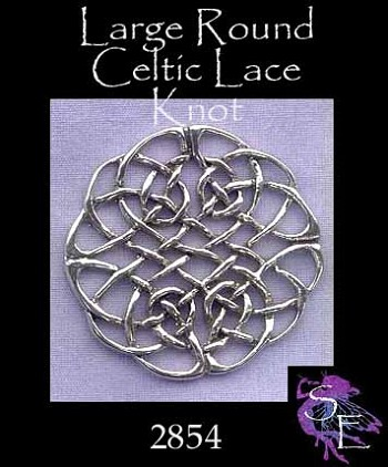 Sterling Silver Large Celtic Lace Knot Centerpiece Jewelry Connector