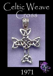 Sterling Silver Celtic Cross Pendant with Celtic Bail