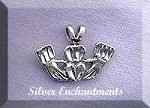Sterling Silver Bailed Claddagh Charm