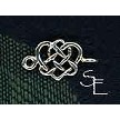 Sterling Silver Celtic Jewelry Connector - Triquetra and Heart