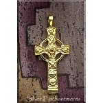 Gold Plated Gothic Celtic Cross Pendant