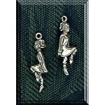 3D Irish Step Dancer Charm, Sterling Silver Irish Jewelry