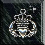 Sterling Silver Claddaugh Charm