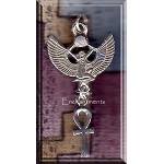 Sterling Silver Isis with Dangling Ankh Pendant