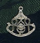 Sterling Silver Symbols of Egypt Pendant - Ankh, Lotus and Scarab
