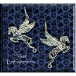 Sterling Silver Double-Sided Bailed Flying Pegasus Dangler Pendant - Both Sides Shown
