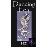 Sterling Silver Fairy Pendant, Dancing