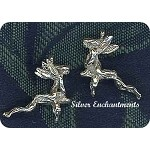 Sterlling Silver Bailed 3D Fairy Riding Frog Charm