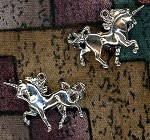 Sterling Silver 3D Unicorn Charm 22x16mm