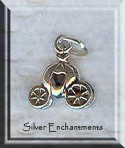 Sterling Silver 3D Fantasy Carriage Charm