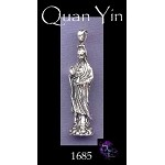 Sterling Silver Large Quan Yin Pendant or Altar Statue