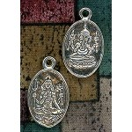 Sterling Silver Shiva and Ganesh Pendant, Hindu Jewelry