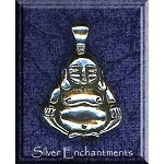 Sterling Silver Bailed Buddha Pendant