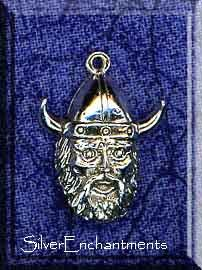 Sterling Silver Dimensional Viking Charm