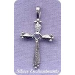 Sterling Silver Small Cross Pendant, 26x14mm Bailed