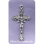 Sterling Silver Crucifix Pendant, 36x20mm Catholic Cross Jewelry