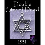Sterling Silver Star of David Charm Pendant, Jewish Star of David Jewelry