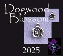 Sterling Silver Small Dogwood Flower Blossom Charm Flower Jewelry