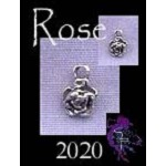 Sterling Silver Miniature Rosebud Charm, Small Rose Jewelry