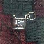 Sterling Silver Mortar and Pestle Charm, RX Pharmacy, Pharmacist Jewelry