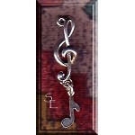 Sterling Silver Treble Clef with Note
