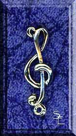 Treble Clef Jewelry Link Finding, Sterling Silver