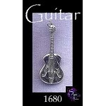 Sterling Silver Guitar Pendant, Classic