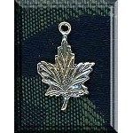 Sterling Silver Maple Leaf Charm, Leaf Jewelry