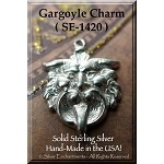 Sterling Silver Gargoyle Charm, Medieval