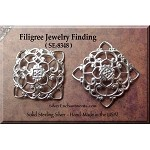 Sterling Silver Victorian Filigree Finding, 27mm