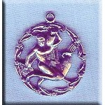 Sterling Silver Aquarius Medallion Pendant