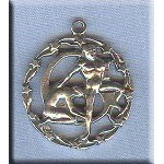 ZDISCONTINUED - Sterling Silver Gemini Medallion Pendant