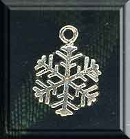Sterling Silver Snowflake Charm, 17x13mm Snowflake Jewelry