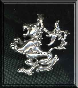 Sterling Silver Leo Pendant with Hidden Bail
