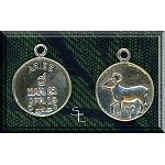 Sterling Silver Aries Charm with Glyph, Zodiac-Astrology Jewelry