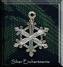 Sterling Silver Snowflake Pendant, Snowflake Jewelry