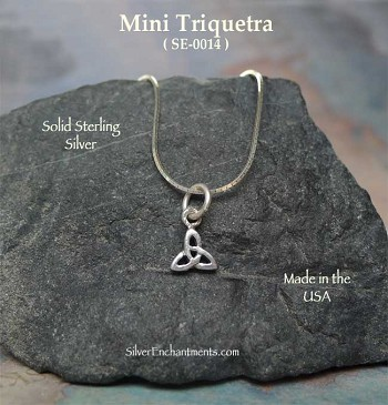 Sterling Silver Triquetra Necklace, Small
