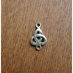 Sterling Silver Triquetra Celtic Connector 16x10mm