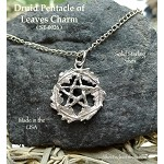 Sterling Silver Woodland Pentacle Pendant, Pagan Druid Jewelry