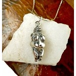 Sterling Silver Venus of Willendorf Pendant, Devotional