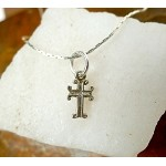 Sterling Silver Cross Necklace, Small