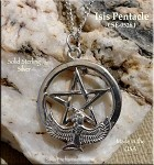 Sterling Silver Isis Pentacle Necklace, Isis Pentagram Pendant, Pagan-Egyptian Jewelry