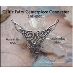 Sterling Silver Celtic Fairy Necklace Centerpiece, Fairy Y Necklace Jewelry Part