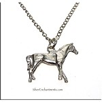 Sterling Silver Horse Charm-Pendant, 3D