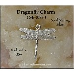 Sterling Silver Dragonfly Charm, Small